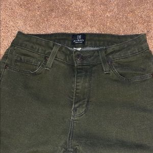 Olive / black jeans from Just Black brand
